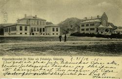 """Text till bilden""""T.v. Högre Folkskolan, senare Praktiska Rea"""