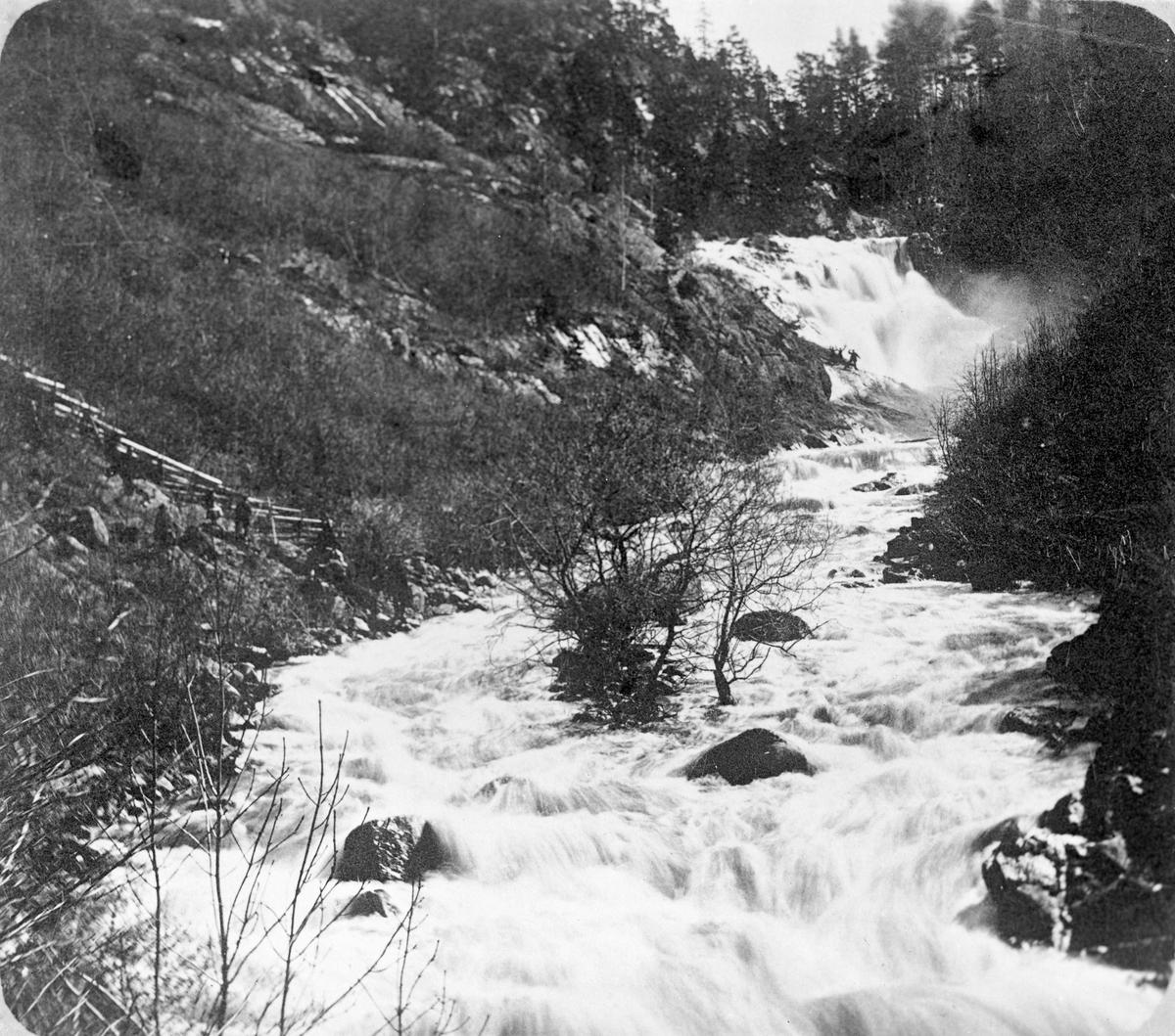 Vattenfall i Huskvarna på 1860-talet.