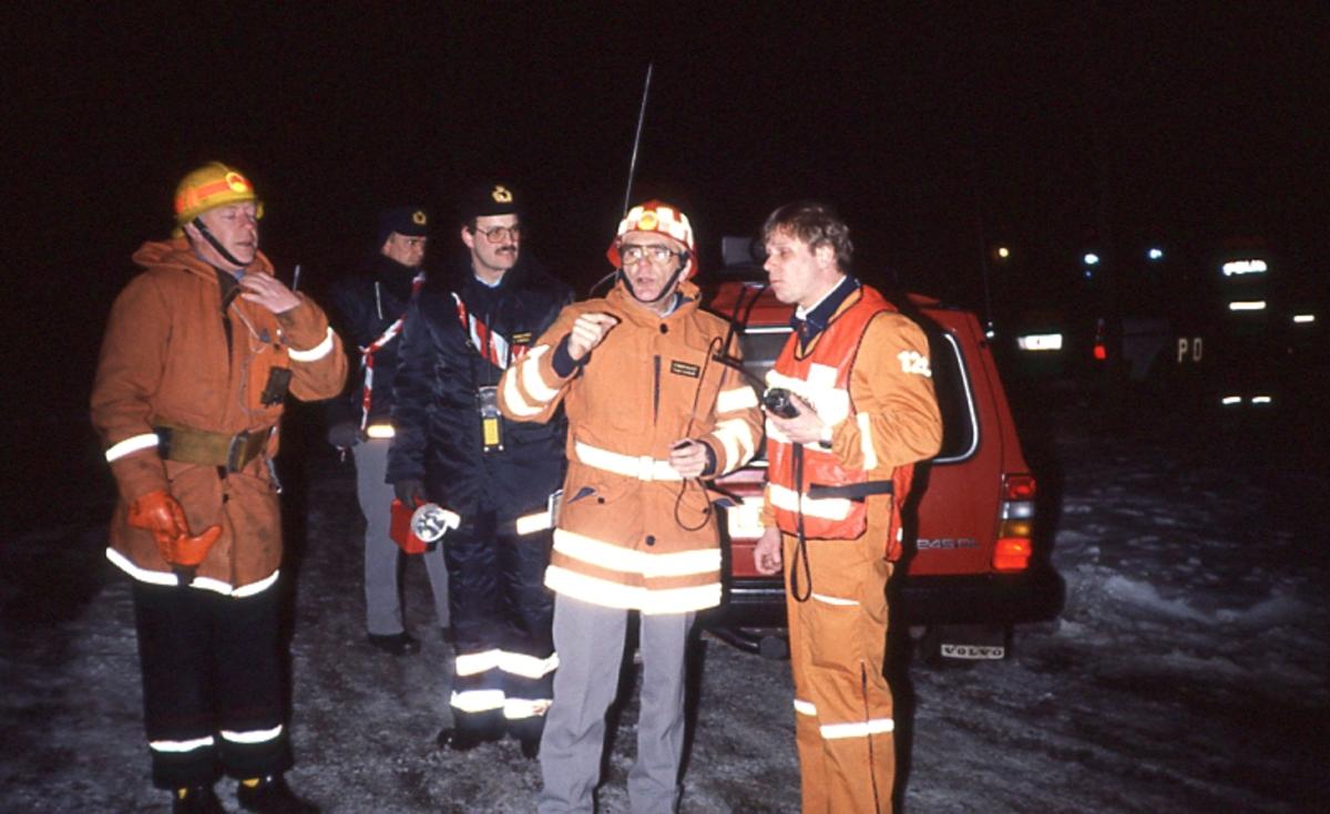 Ledningsövning, Willy Andersson, Sune Lardner, polis och ambulans.