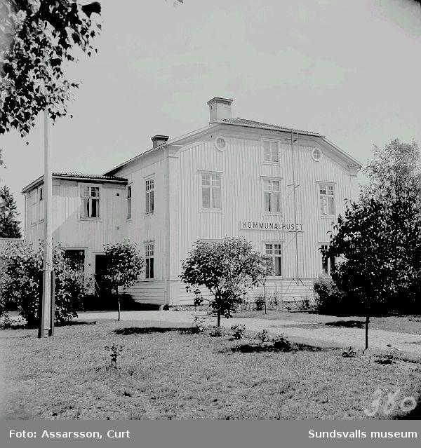 Njurunda kommunalhus i Bommen.