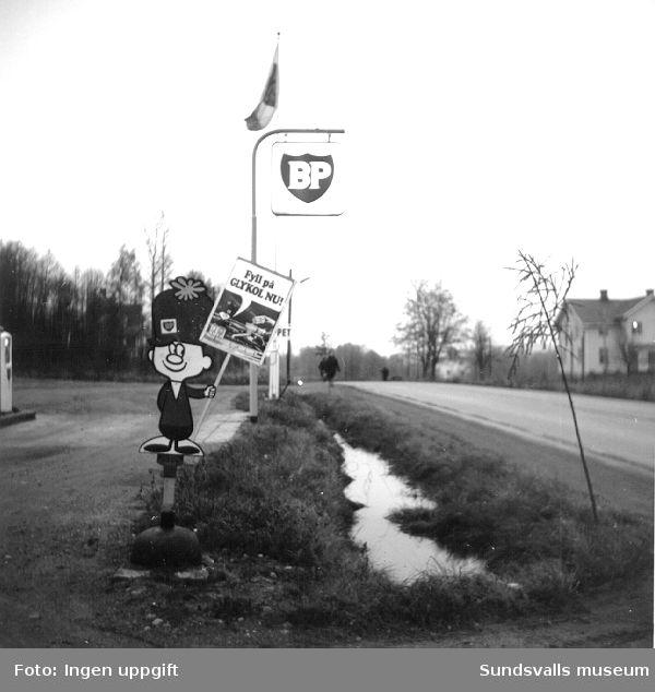 BP:s bensinstation i Dingersjö, Njurunda.