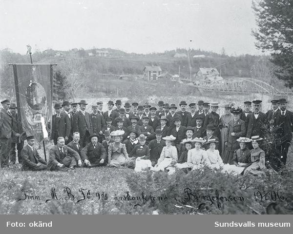 Från M B F:s 9:e årskonferens i Bergeforsen 1906.
