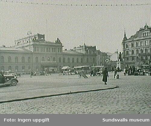 Stora torget med Stadshuset och Hirschska huset.