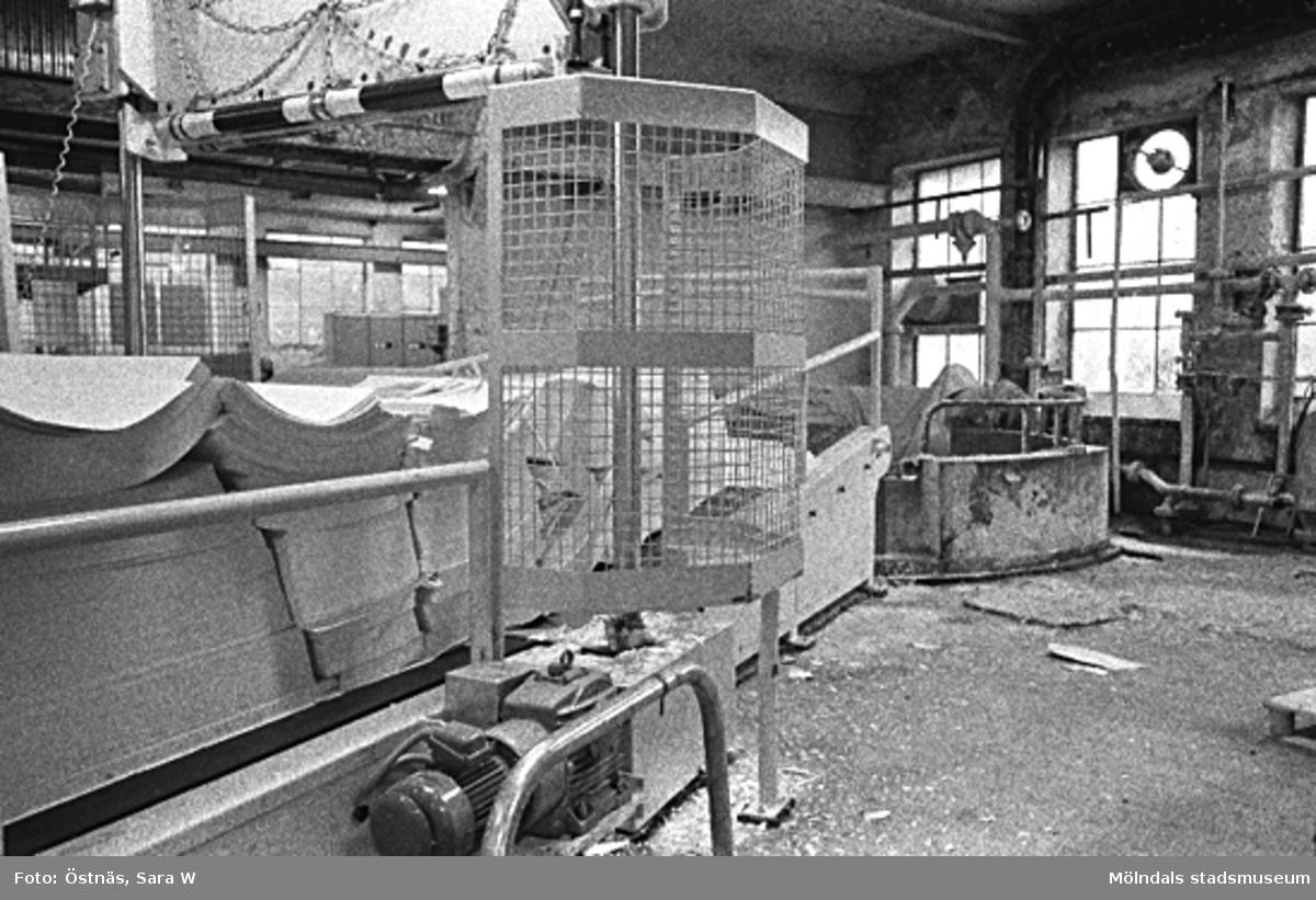 Interiör från pappersfabriken.Bilden ingår i serie från produktion och interiör på pappersindustrin Papyrus.