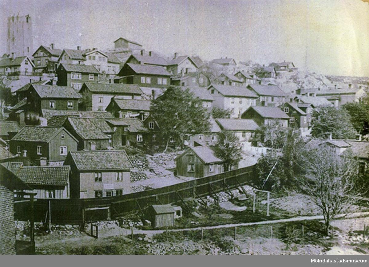 Stadsvy över Kvarnbyn i Mölndal.