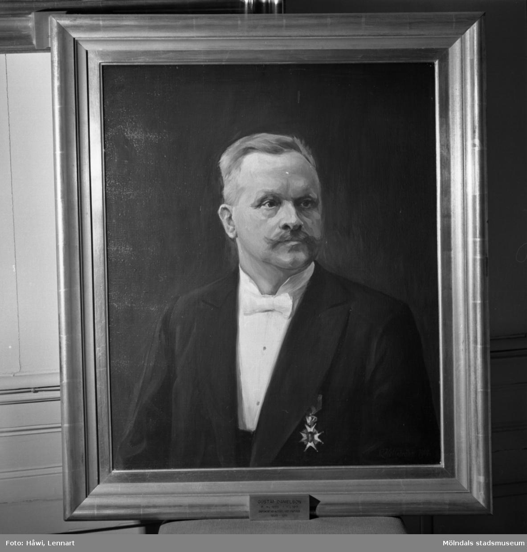 Porträttmålning av Gustaf Danielson. Disponent vid aktiebolaget Papyrus 1895-1911.