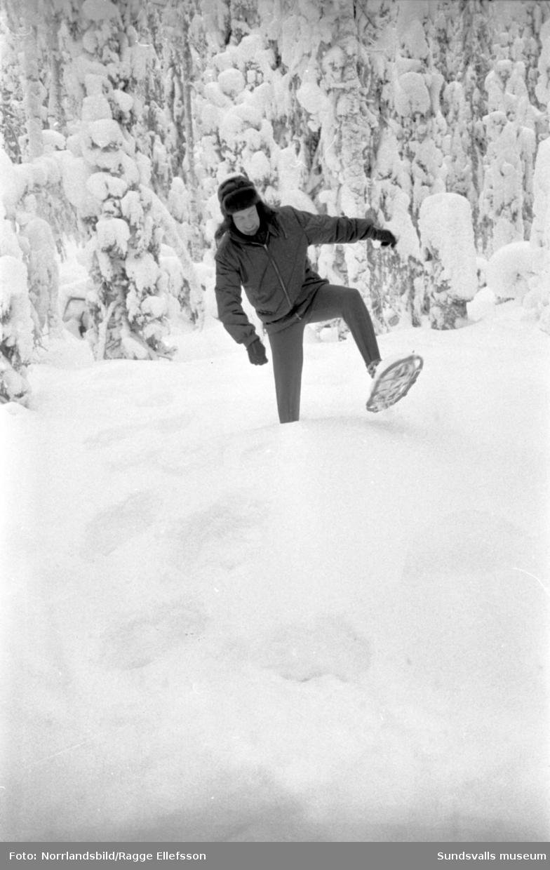 Bilder till ett reportage om snöskor i Fränsta, gjort för Dagens Nyheter.