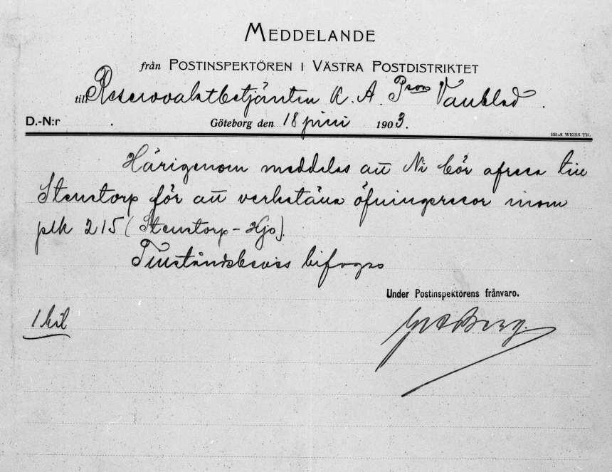 Föremål i Postmusei samlingar.