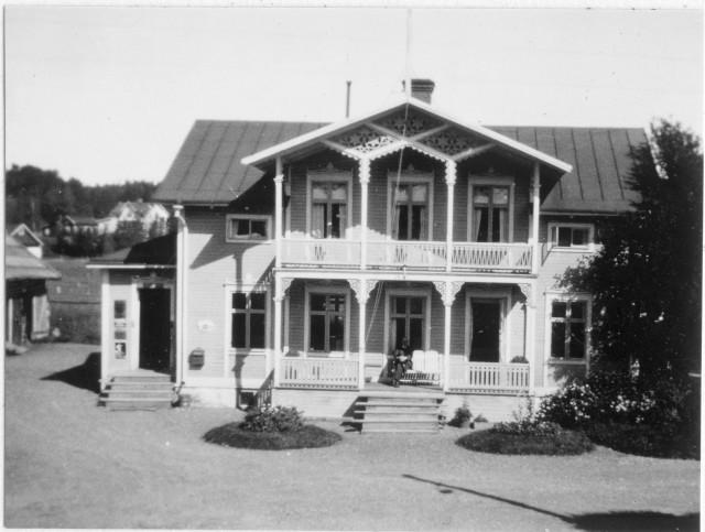 Näldens postområde. Ocke posstation, exteriör, 1947.