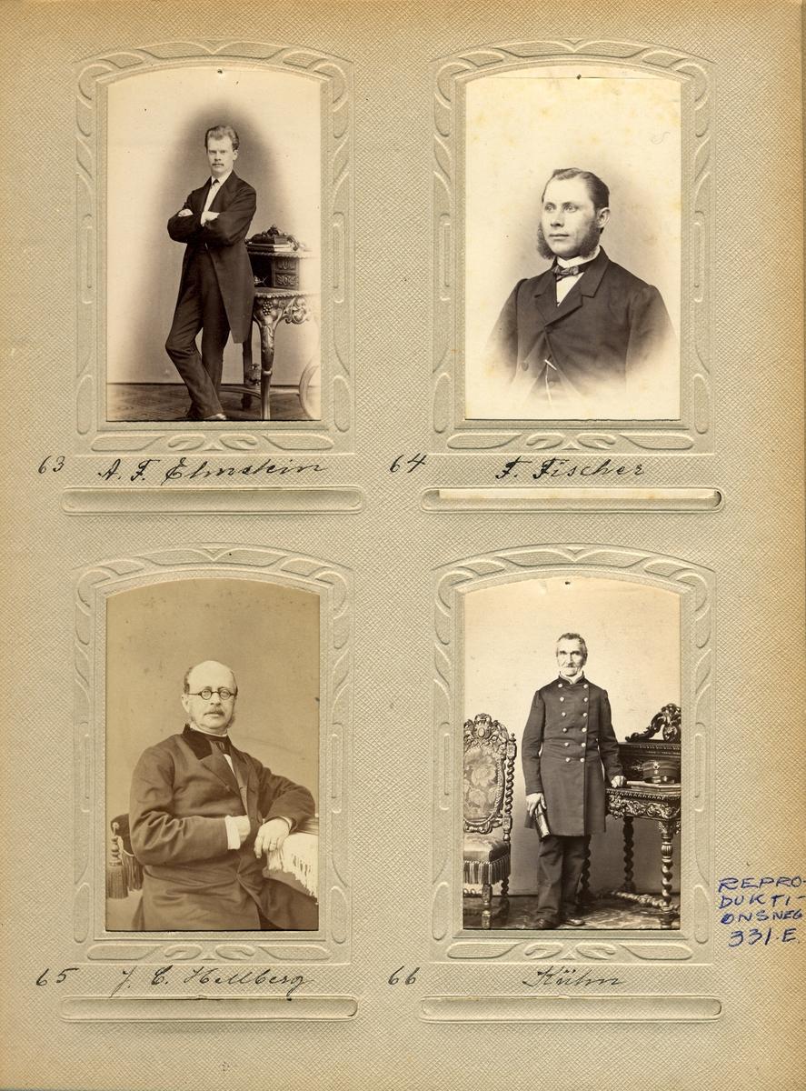 Porträtt av kontorsskrivaren vid det svenska postkontoret i Hamburg och sedermera kontollören vid Stockholms postkontor (1878), Axel Ferdinand Elmstein.