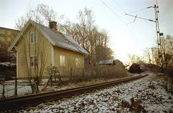 Banvaktarstuga vid järnvägen ovanför Ekekullen.