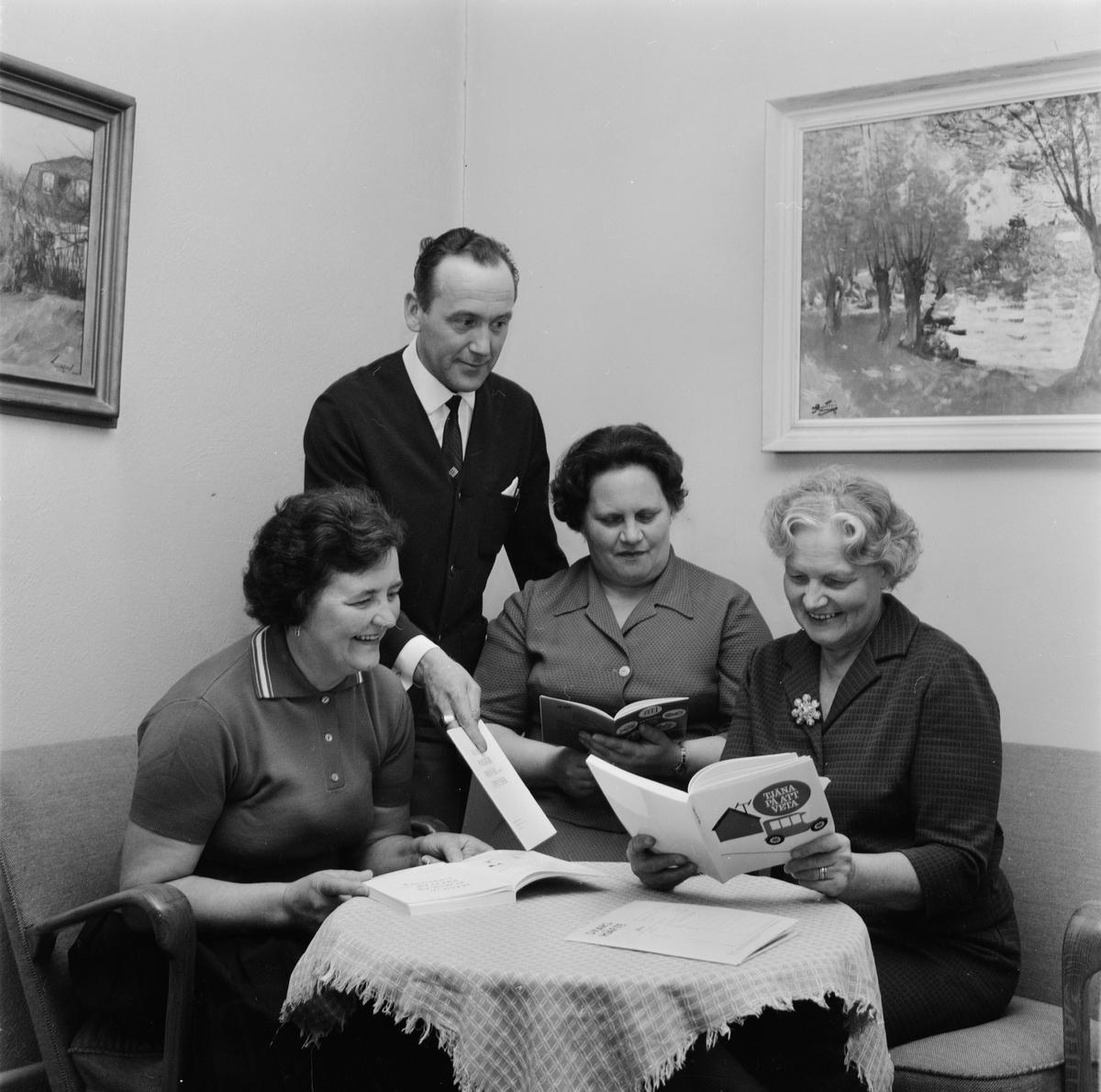 ABF-kurs, ledare Rune Johnsson, sannolikt Uppland 1964