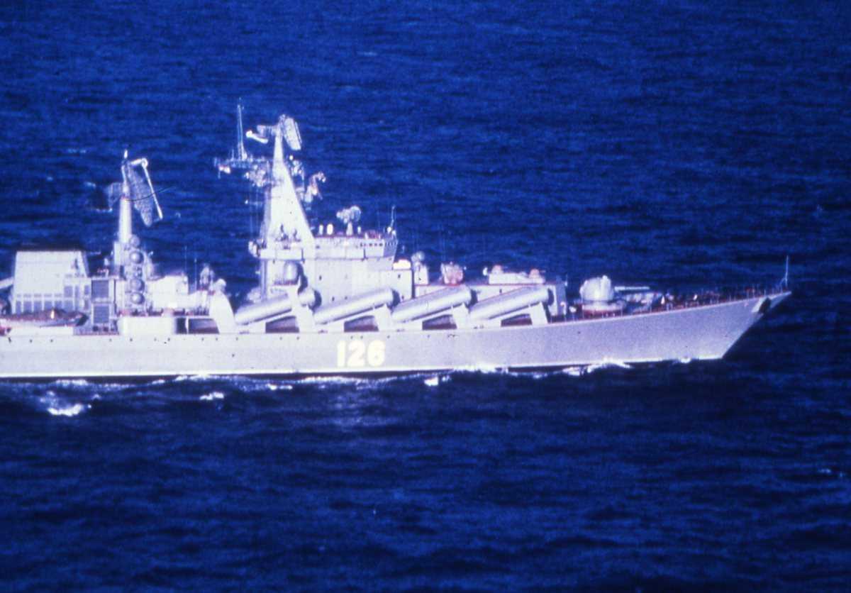 Russisk fartøy av Slava - klassen med nr. 126 og som heter Slava.