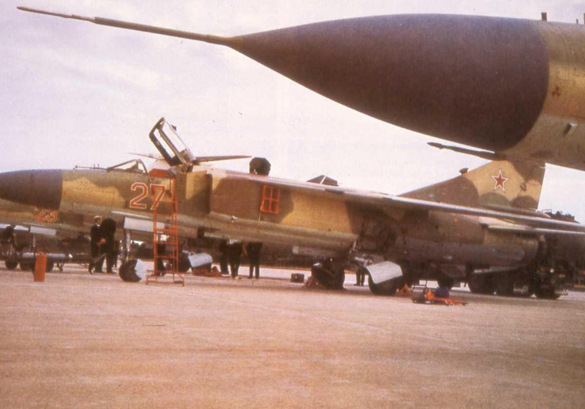 Russiske fly av typen Mig-23 Flogger G.