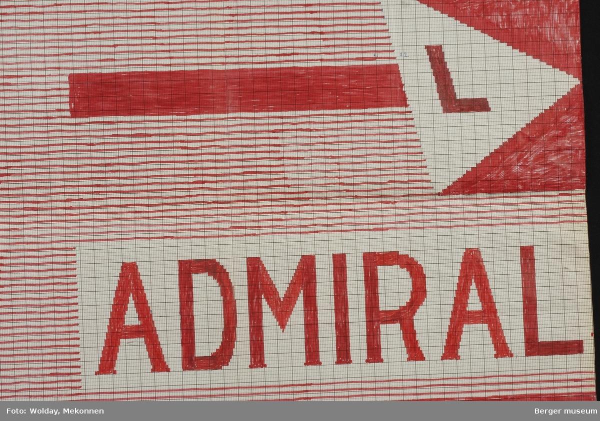 Halvt redieriflagg. L. ADMIRAL (del 2 - ref. BMF.01884-B-1).