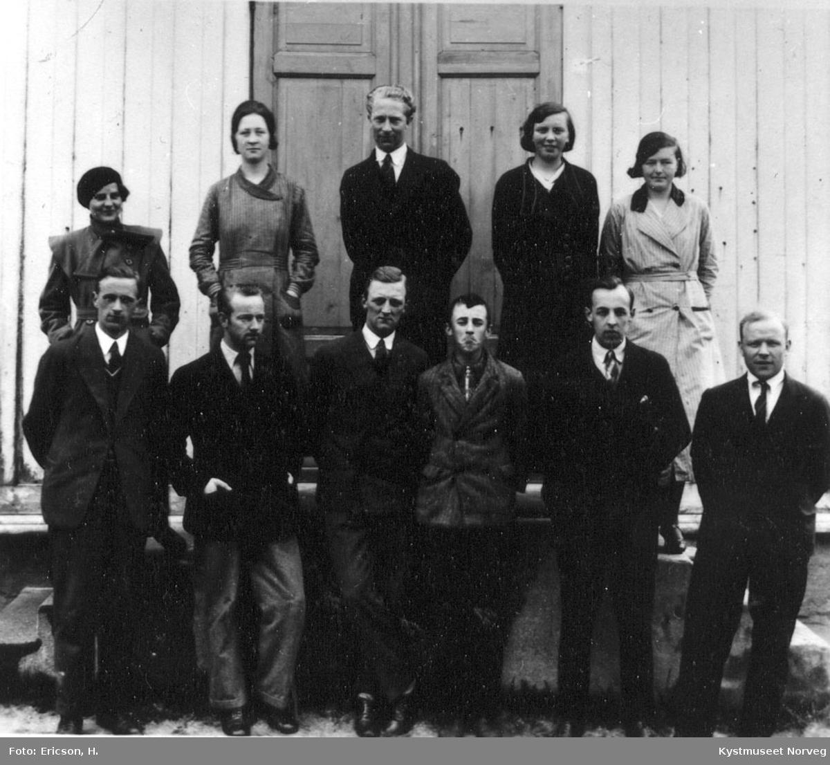 Rørvik, handelsskolekullet i 1932