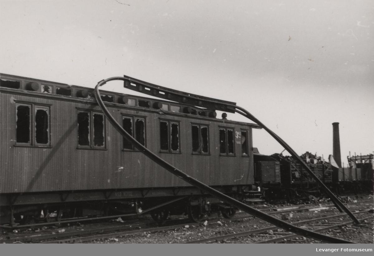 Utbombet tog.