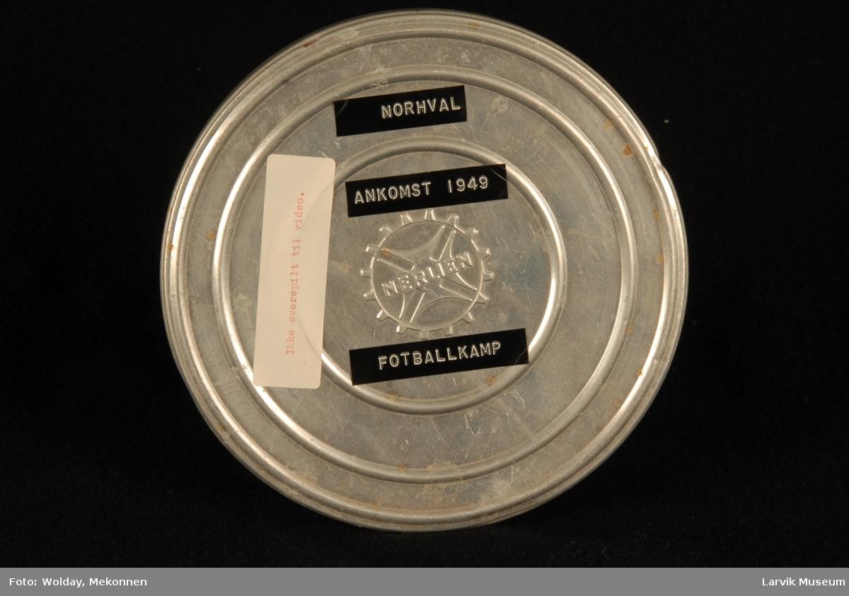 Norhval ankomst 1949 - fotballkamp