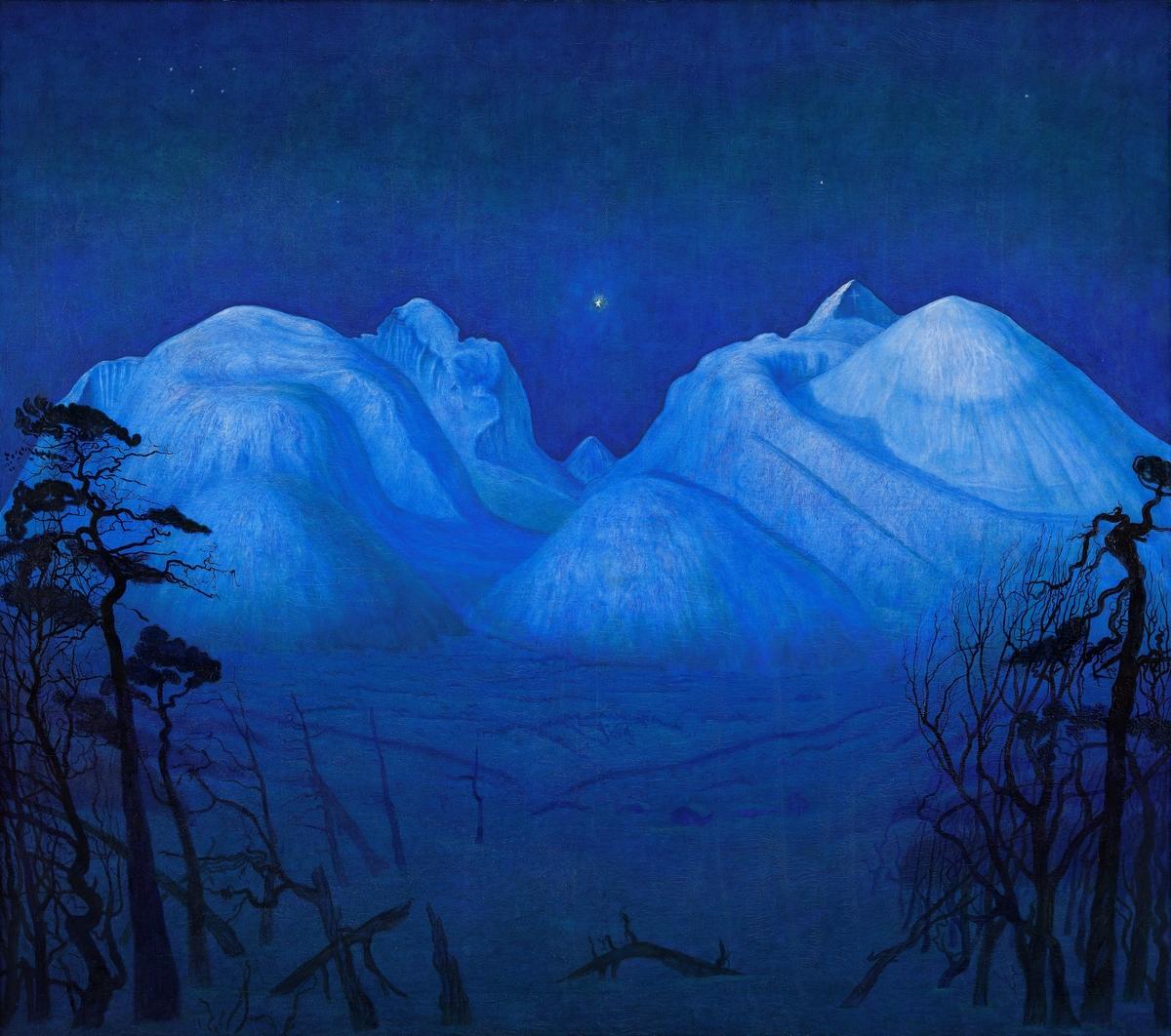 Vinternatt i Rondane [Maleri]