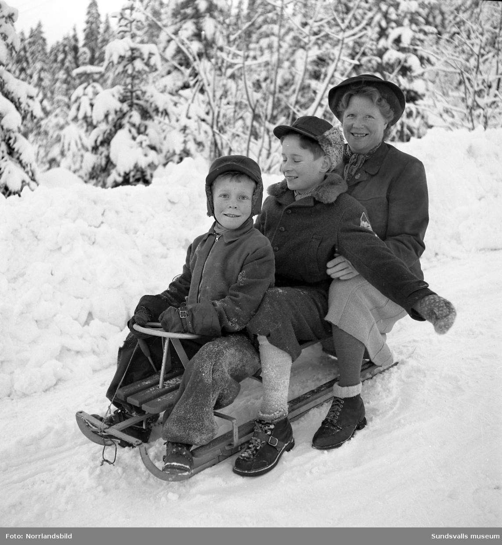 Jullov med vintersport och snölek.