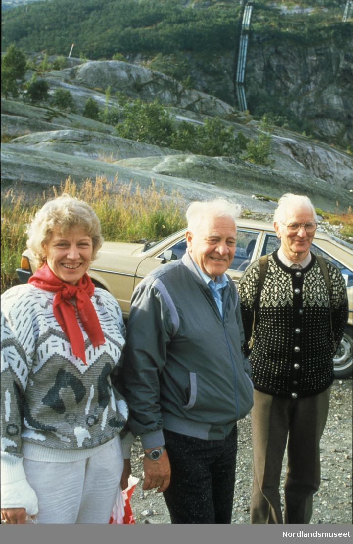 Rallarmarsjdeltagere i Glomfjord - august 87