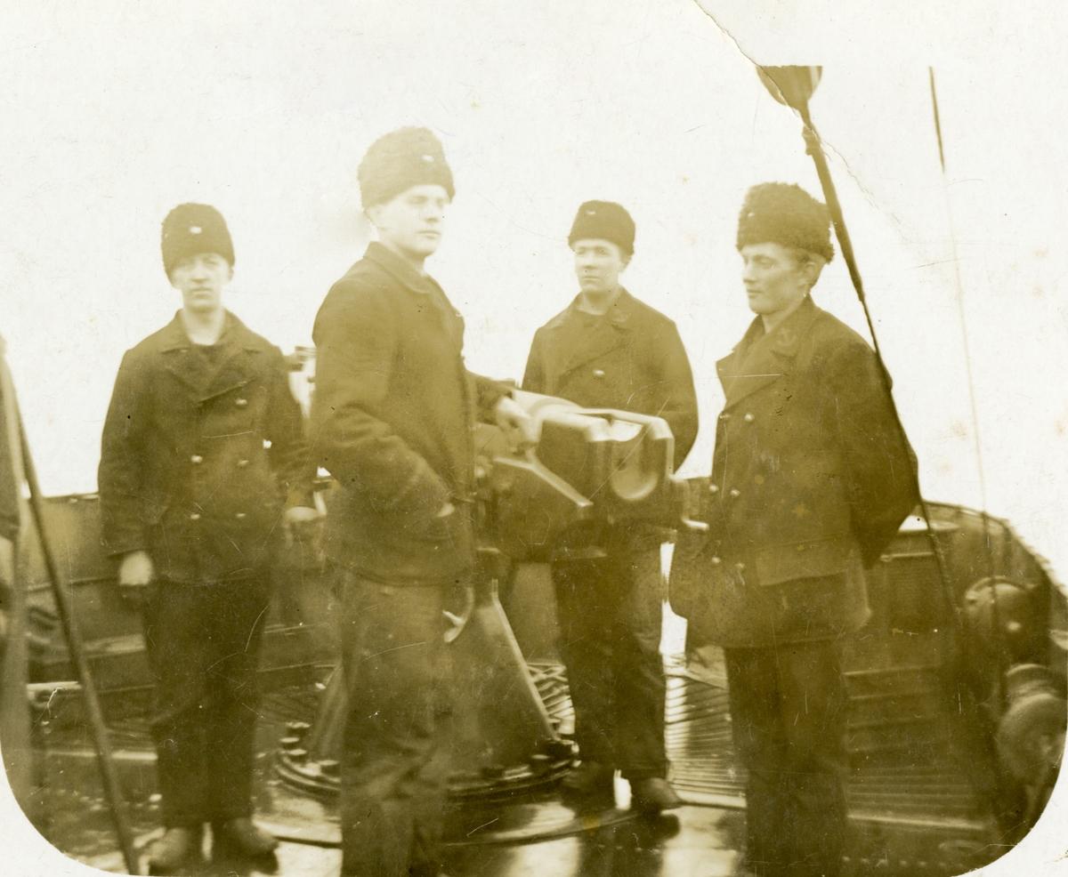 Män ombord på en jagare Åland 1917-18