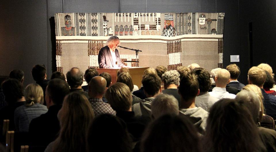 Foredrag med Dag Solstad. Foto: NKIM (Foto/Photo)