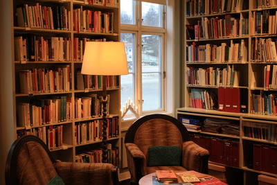 Biblioteket på Kvinnemuseet. Foto/Photo