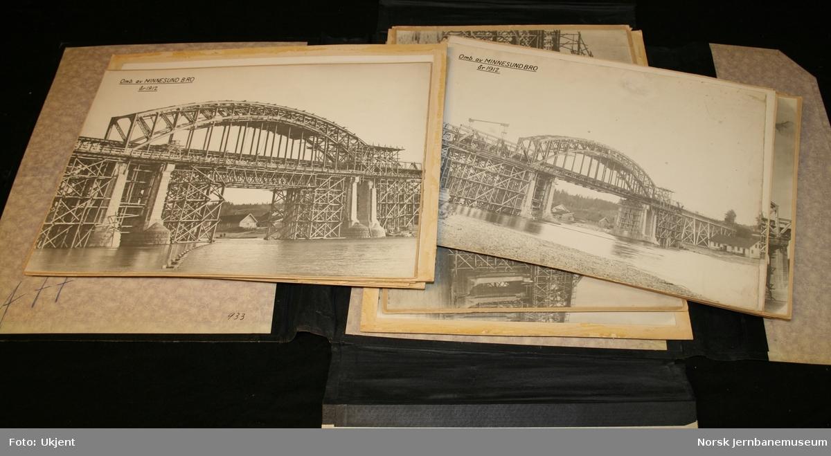 Ombygging Minnesund bru 1912-1913
