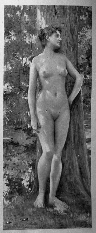 """Racehygiene. Ung naken kvinne, helfigur. Fra pakke merket """"Gade m. flere. Kvinder. Modeller."""""""