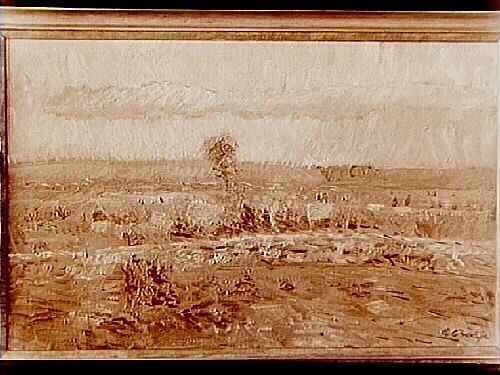 Oljemålning: Landskap av konstnären G. Börje.Ägare grosshandlare Albin Rapp
