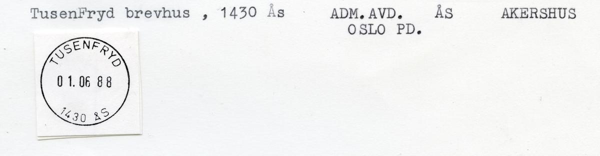 Stempelkatalog Tusenfryd, Ås, Akershus