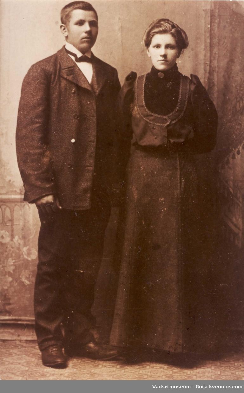 Søsknene Wilhelm Kristian Berger og Pauline Elisabeth Berger. Ca 1910-1916