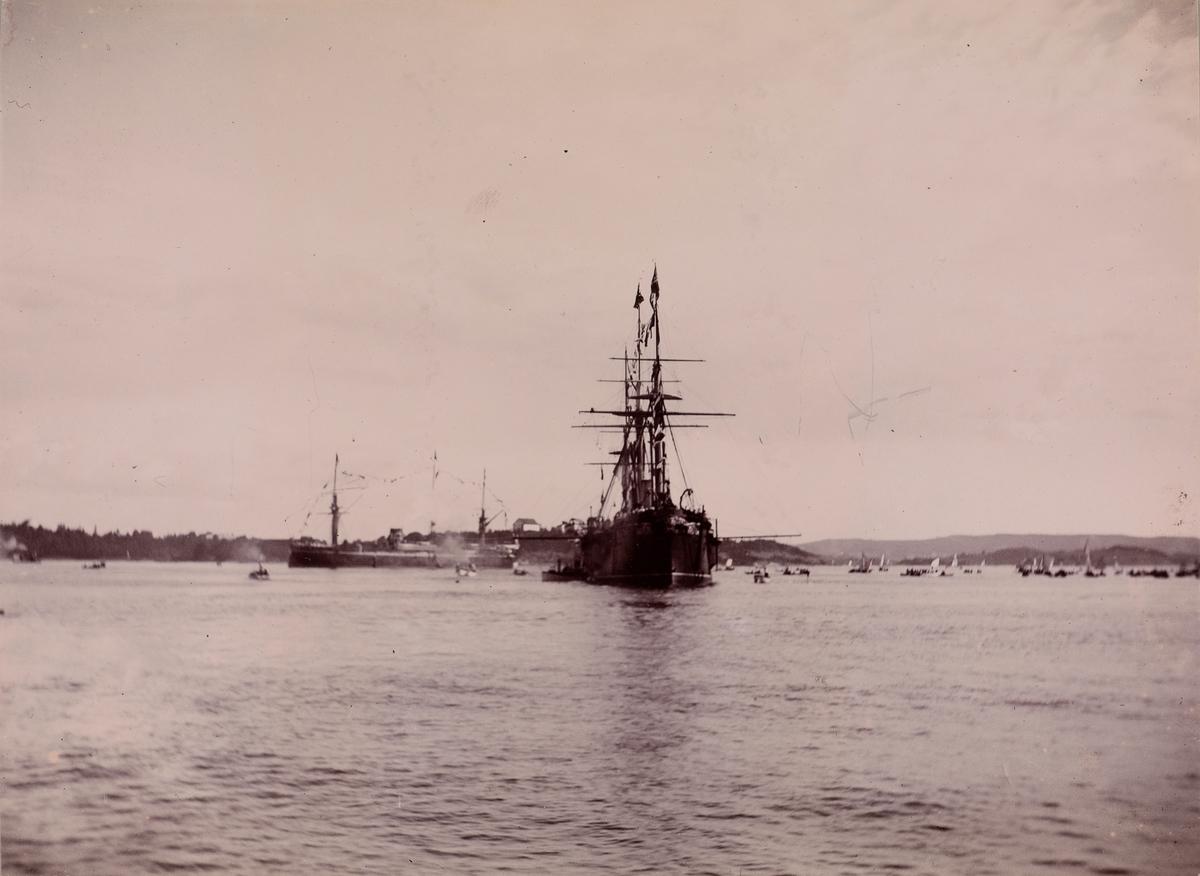 """""""Keiser Wilhelms Ankomst til Oslo"""" trolig fra hans første besøk i 1890."""