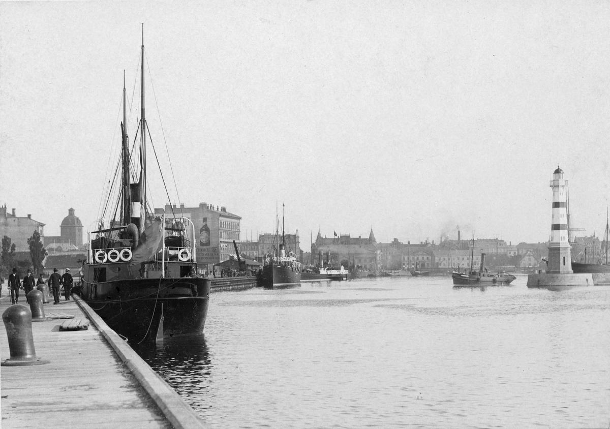 Malmö hamn, troligen 1890-tal.