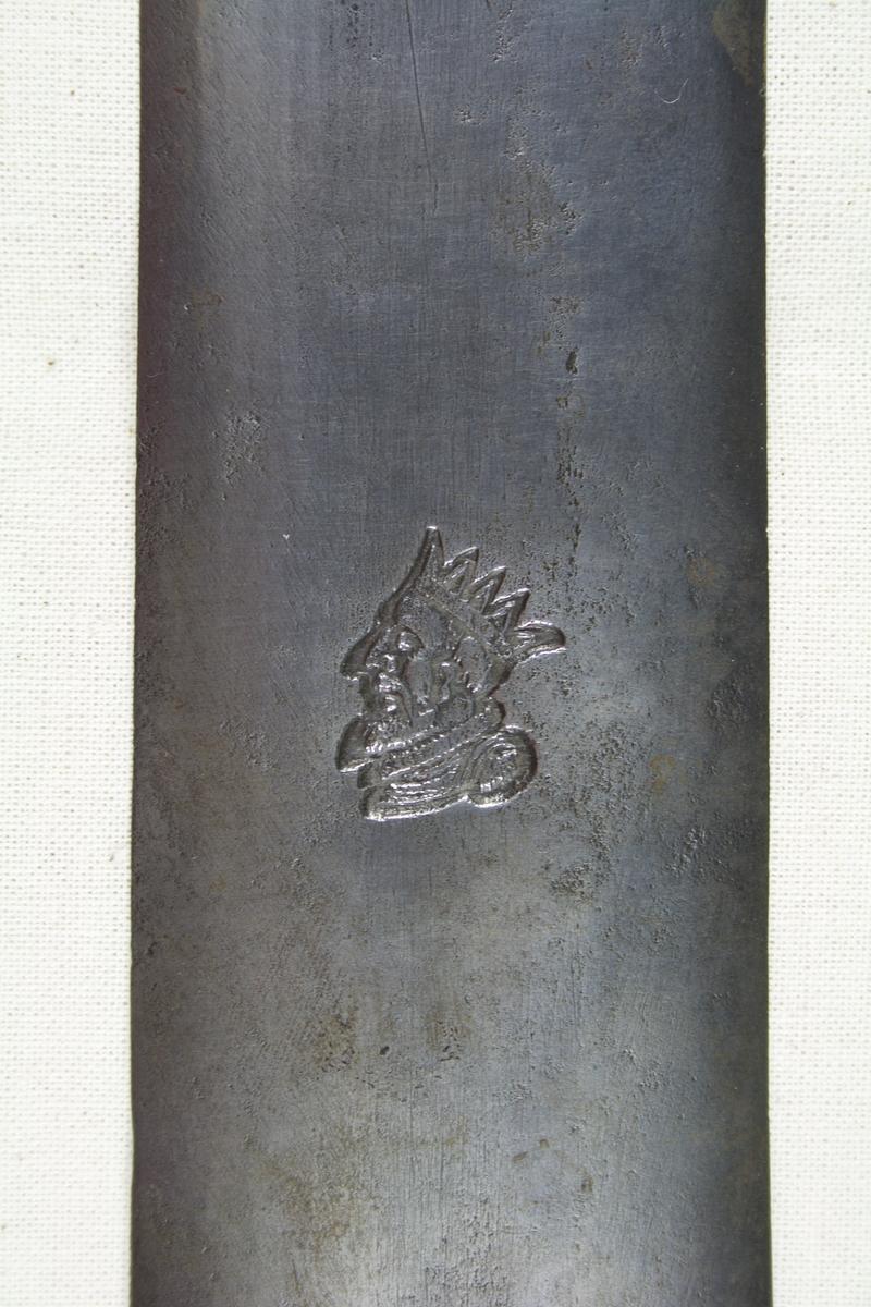 Kongehode med krone i profil