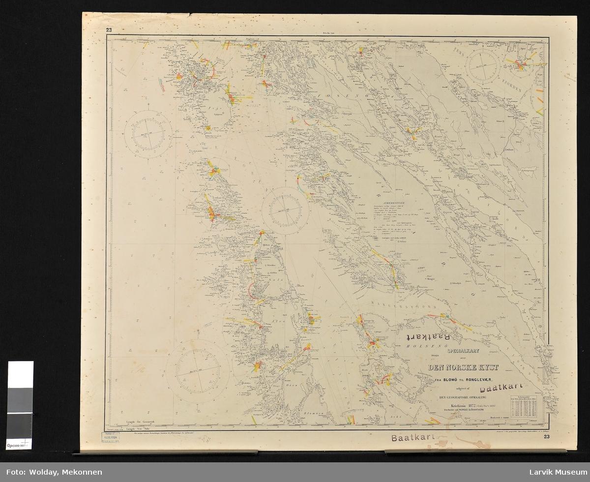 Den Norske kyst, fra Blomø (Blomøy) til Ronglevær Norge, Vestlandet