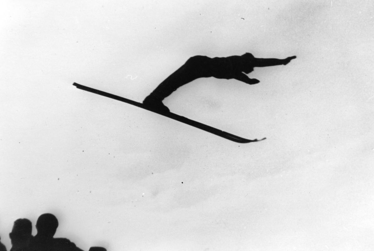Kongsberg skier Arnholdt Kongsgård at local ski jump