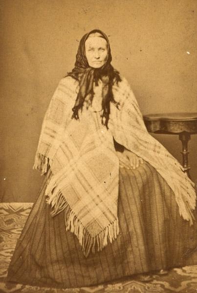 Ateljébild äldre kvinna, negativ 70:2373.
