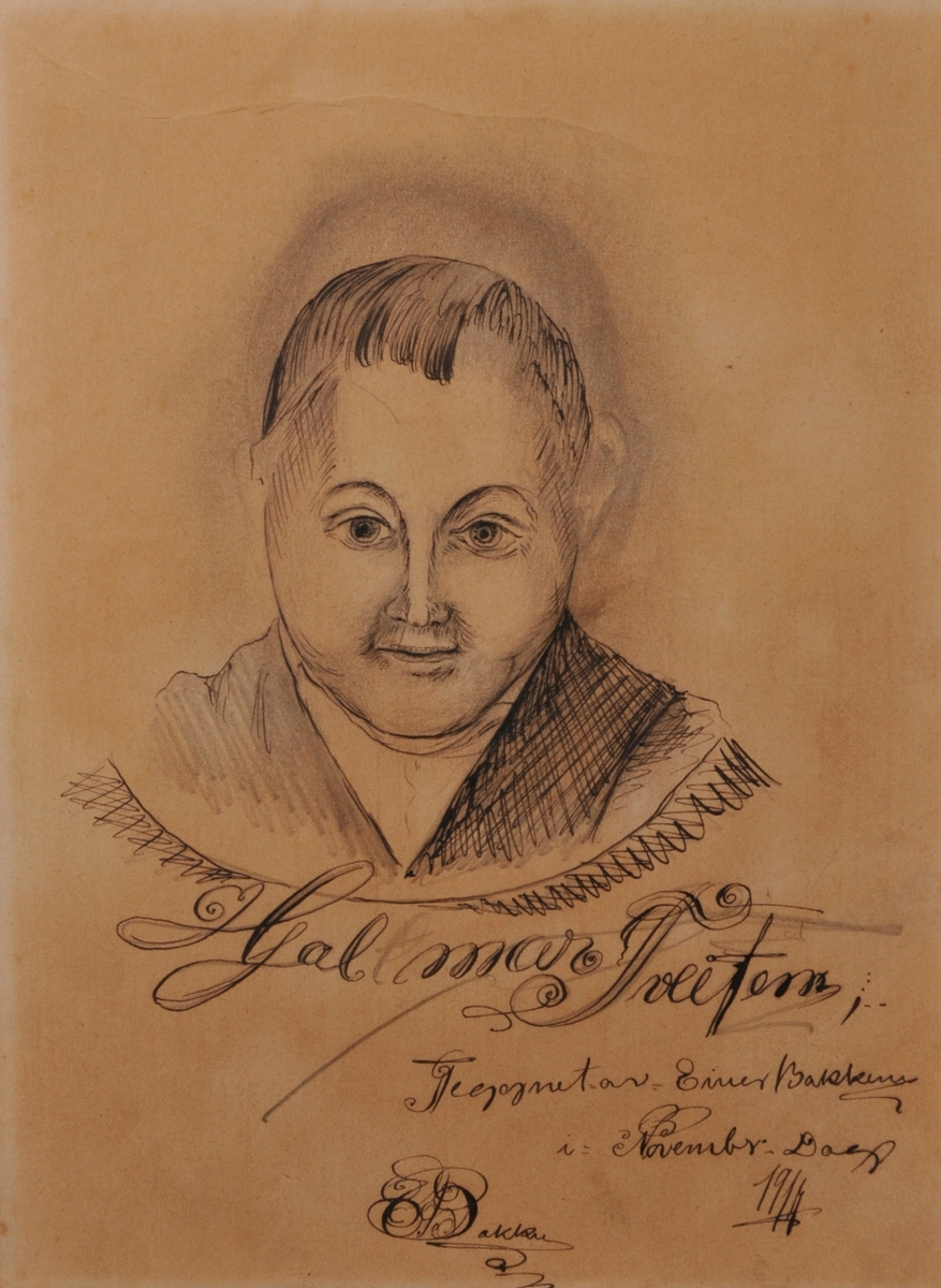Portrett av Hjalmar Tveiten.