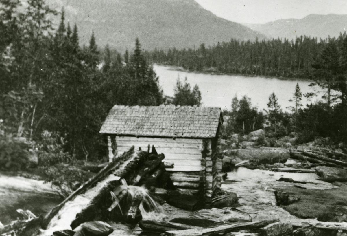 En gammel kvern i Vassfaret i Sør- Aurdal kommune i Valdres.