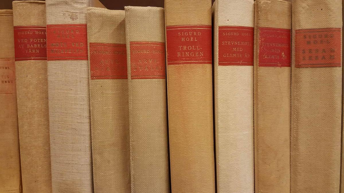 Sigurd Hoel-bøker i biblioteket (Foto/Photo)