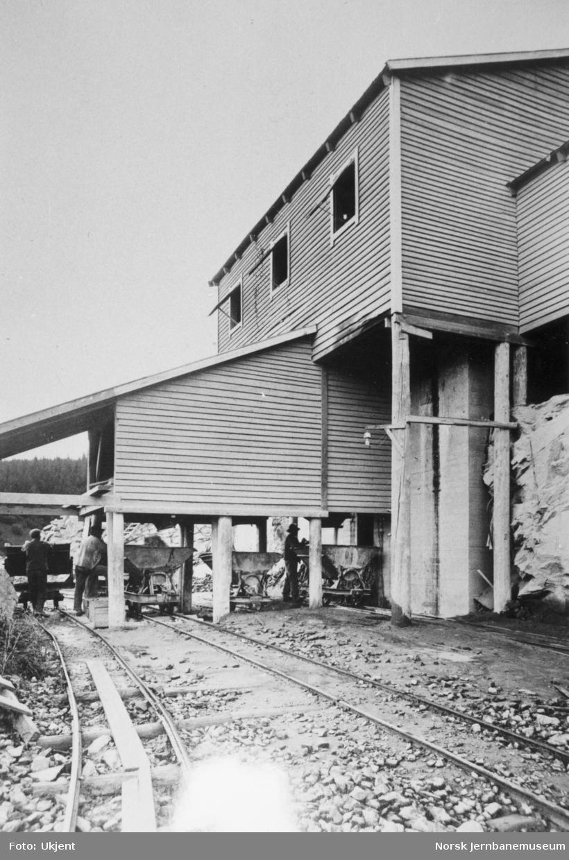 Pukkverket for Medjå tunnel på Grong