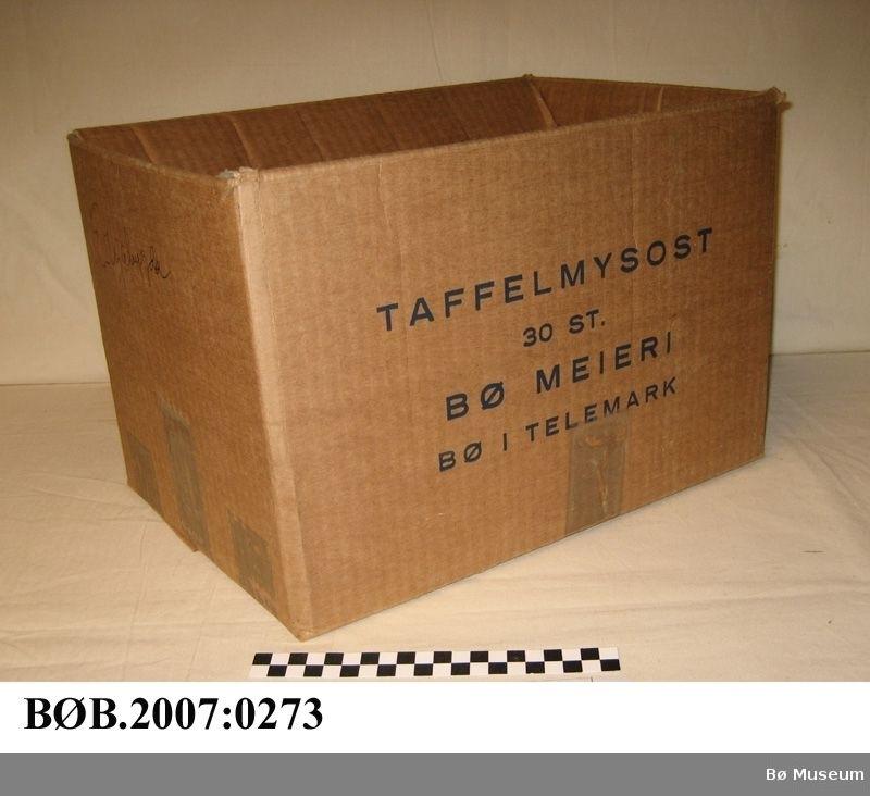 Pappask - emballasje til 30 st. taffelmysost.