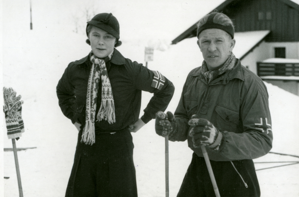 Turid Jespersen and Birger Ruud in Garmisch