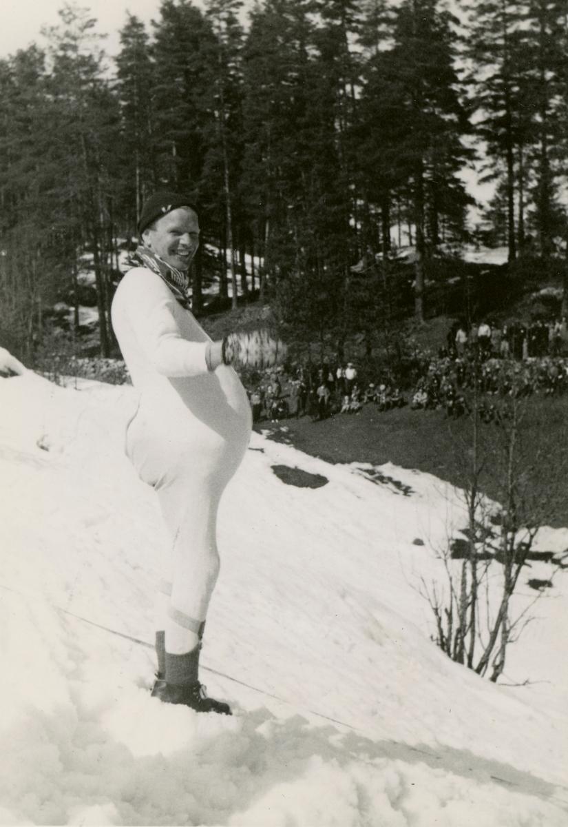 Kongsberg skier Sigmund Ruud during fancy dress show