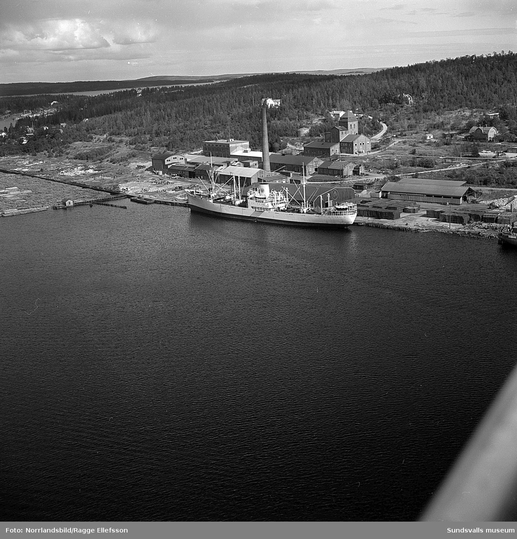 Flygfoton över Nyhamns kemiska fabrik.