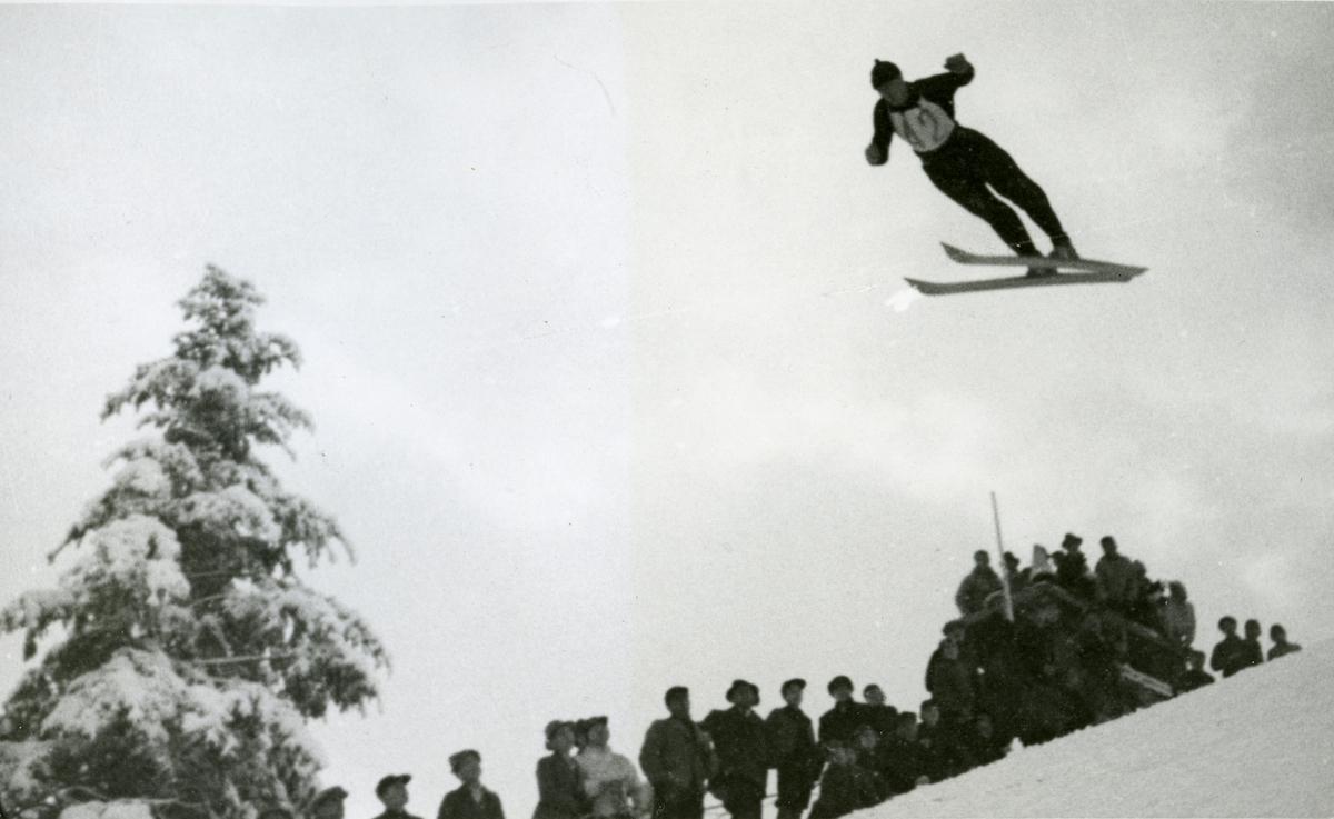 Kongsberg skier Reidar Andersen at Garmisch