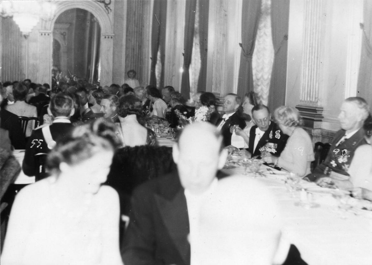 50 års middag Jubileum 50 års, A 6. Officerskårens middag på Stora Hotellet  50 års middag