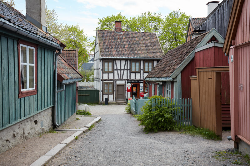 Buikdings from Enerhaugen and Hammersborg at Norsk Folkemuseum